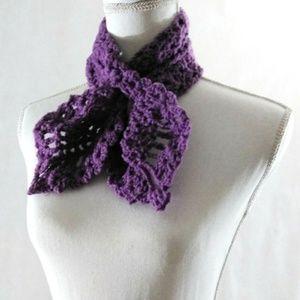 Neckwarmer Lace Crochet Handmade